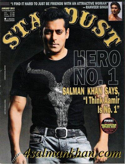 Salman Khan STARDUST Magazine 2012