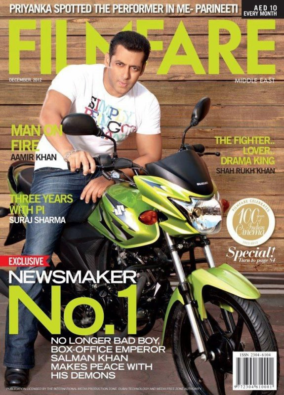 Salman Khan Filmfare magazine cover