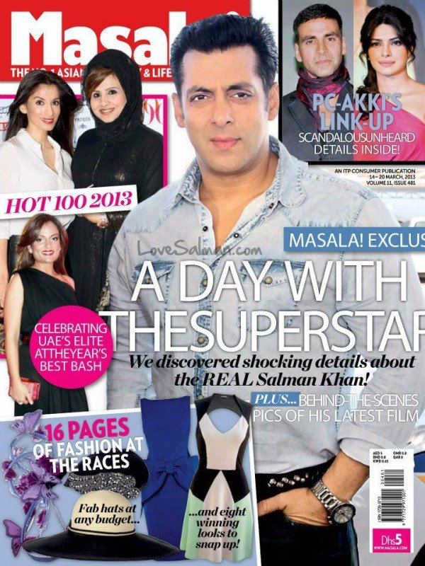 Salman khan Cover Photo on Masala Magazine
