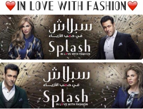 Splash Fashion Salman Khan Nicole Saba