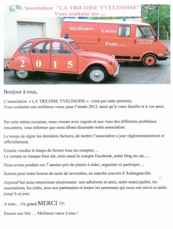 DISSOLUTION de l'association LA TRICOISE YVELINOISE