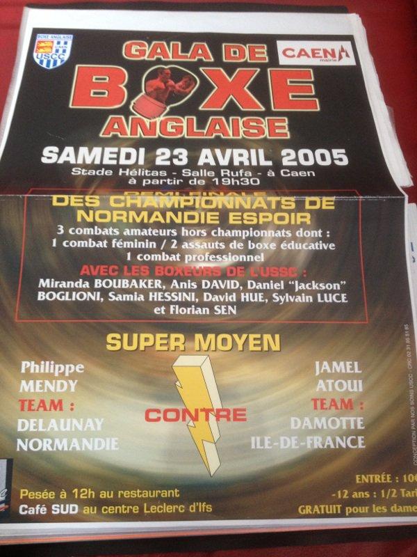 la première affiche ou y eu mon noms boxe amateur