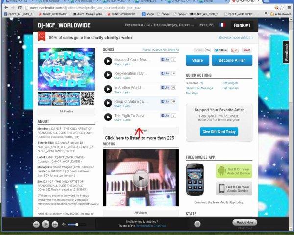 DJ-NCF on Reverbnation 1  ( LHOMMENONDECEVANT )