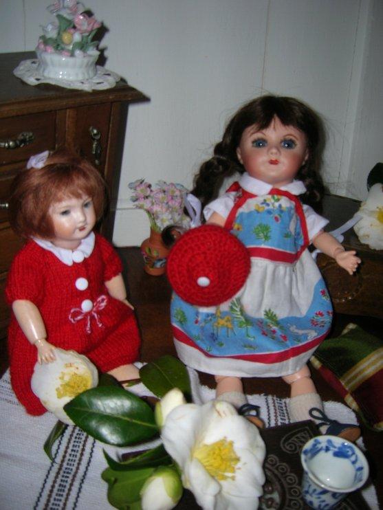 Rose-marie et les fleurs de  camélia...
