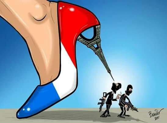Je ne m'excuserai  jamais  d'être  née française. ..en France  les femmes  sont  libres
