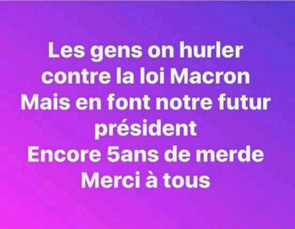 Tout est dit...pauvre France...