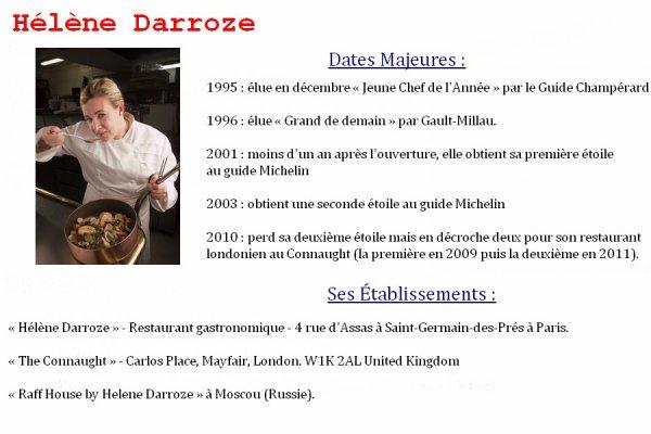 LES GRANDS CHEFS CUISINIERS FRANÇAIS : HELENE DARROZE