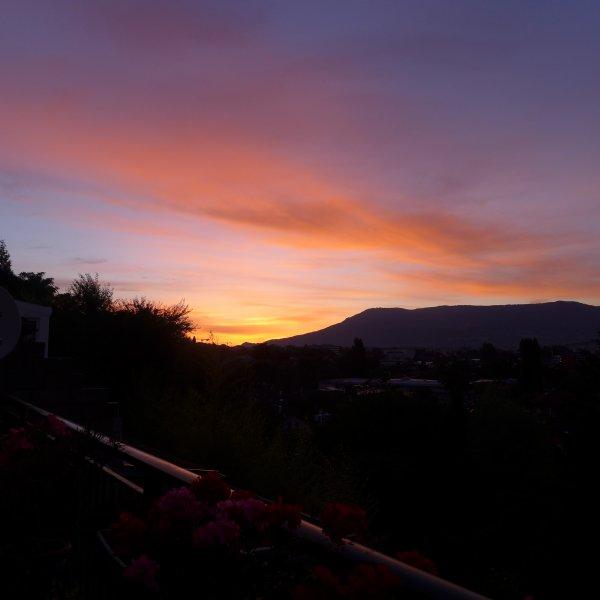 Quand le jour se lève sur ma terrasse en juin!