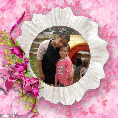 (l)  les deux filles  de mon mari   c luisa et elodie (l)