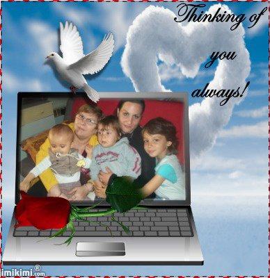 (l) ma belle mere avec c petit enfants et sa fille carole  (l)