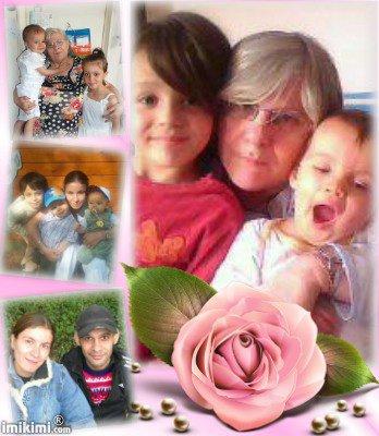 (l) ma belle mere et les enfants  et moi et mon mari (l)
