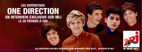 Les One Direction sur NRJ