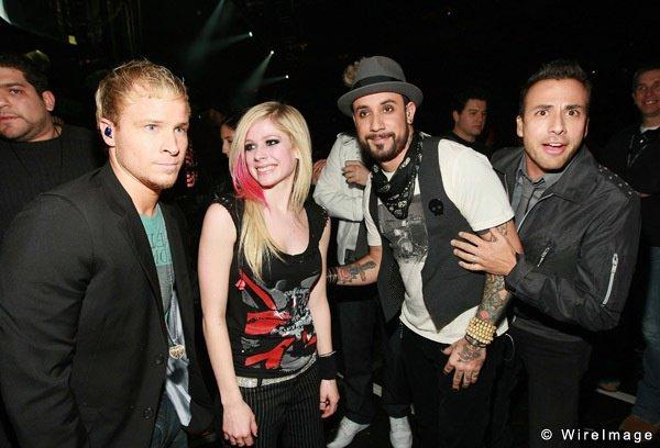 Brian, A.J, Howie la chance que vous avez eu d'être avec Avril Lavigne