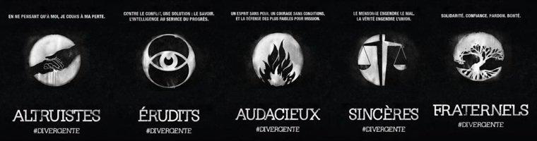 Les 5 factions et leur devises