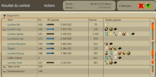 Ben ripate x2 Challenge sursis +55% et Elitiste +75% ( 6 poil 2 scapula ) + Up feca 150 .
