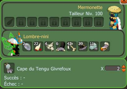 Achat rod gerse + Craft pano tengu x2 + Craft 3 kari + Achat ressource .