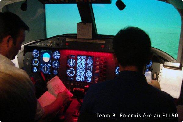 Première séance de simulateur MCC (Multi Crew Cooperation)