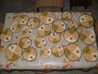 PATISSERIE TUNISIENNE (assida de zgougou) creme de pin d'alep