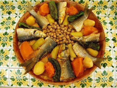 Cuisine tunisienne cosksi bil hout couscous au poisson - Cuisine tunisienne poisson ...