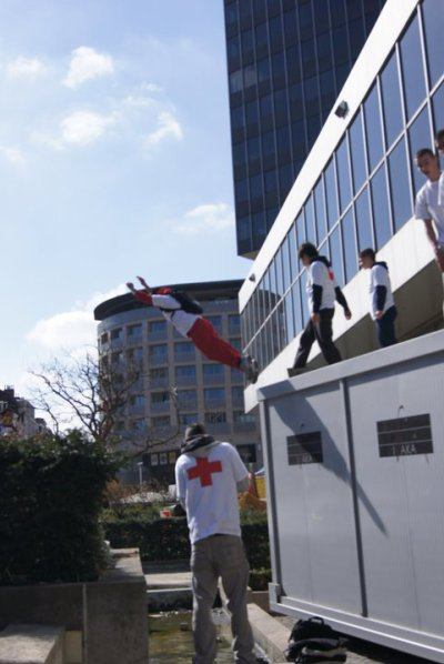 Parkour charity belgium for japan.