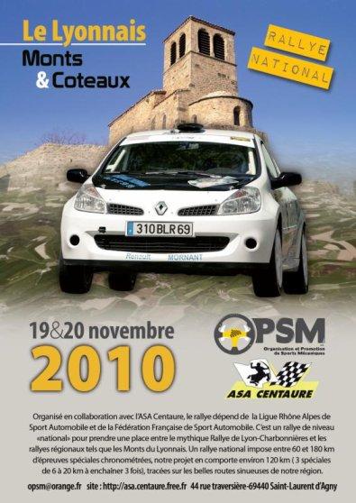 Rallye Lyonnais Mont et Coteaux 2010