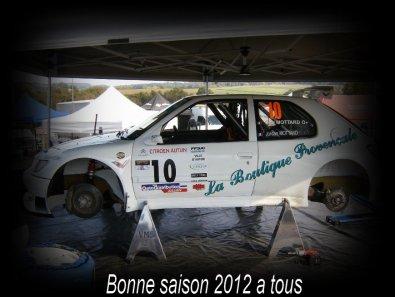 Calendrier rallye 2012