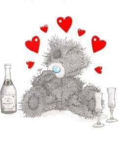 c pa bo un ours ki fou amour on plu il boit sa c pa tro bien m bon il tellement fou amoureux kil ferr nimporte koi - Ours Coeur