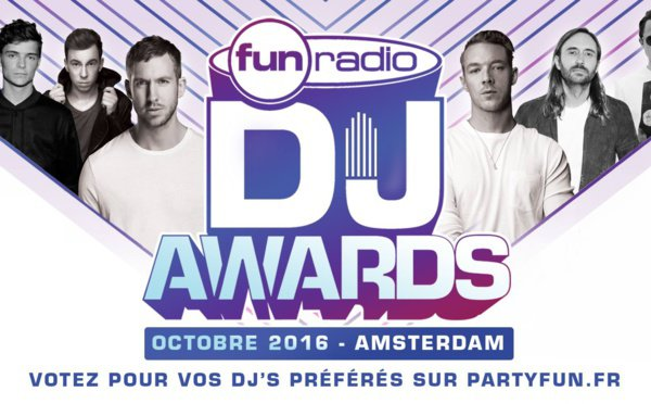 Ouverture des votes de la 4e édition des Fun Radio DJ Awards 2016