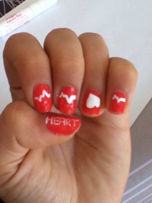 Nails art heart & nails art style or & nails art algorithme