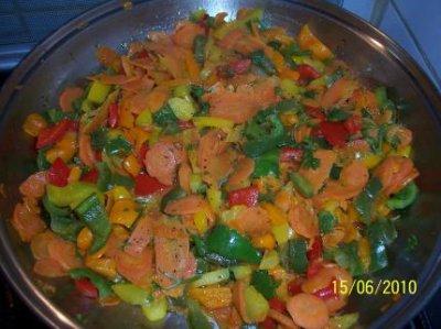 poêlees de légumes multicolore******CONVIENT AUX MALADES COELIAQUES