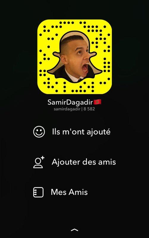 Ajouter sur Snapchat : Samirdagadir