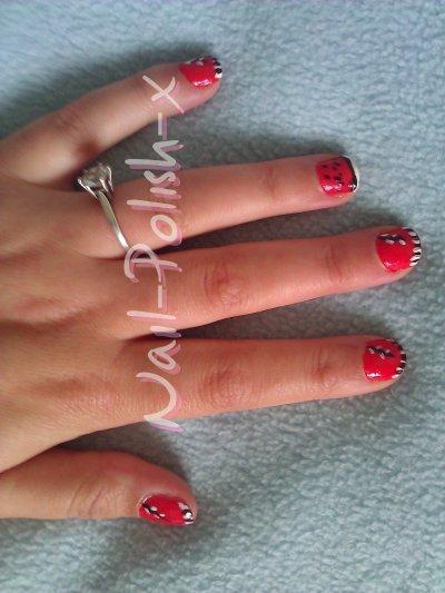 Rouge et Noir (Deco / Nail art)
