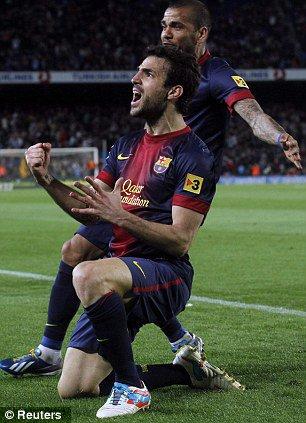 Je ne m'occupe pas de tomber sur le banc pour Messi, a déclaré l'ancien capitaine d'Arsenal Fabregas