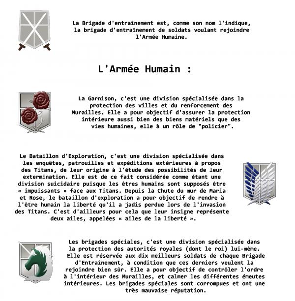 Présentation des brigades, et Inscription