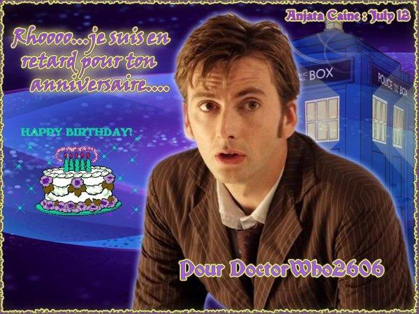 Pour l'anniversaire de DoctorWho2606...