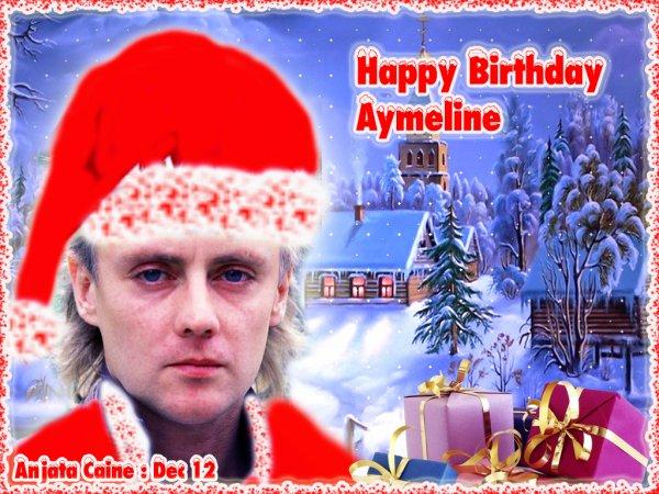 Demain nous fêtons l'anniversaire d'Aymeline...