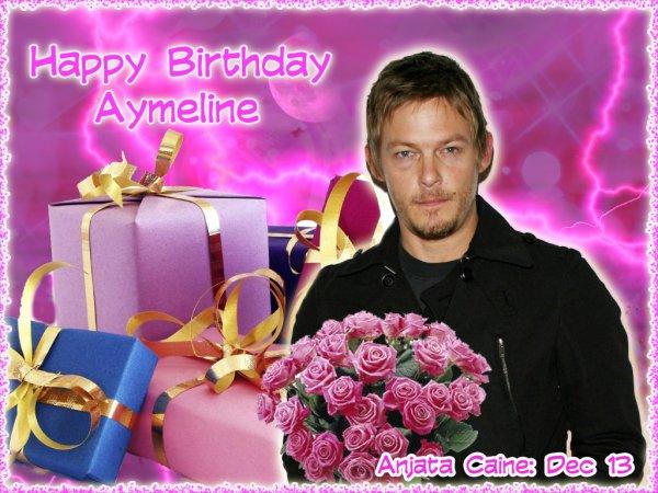 Bon anniversaire Aymeline...