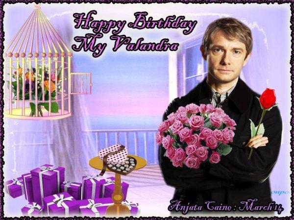 Un bon anniversaire à une certaine Valandra...hi hi...que je connais par coeur