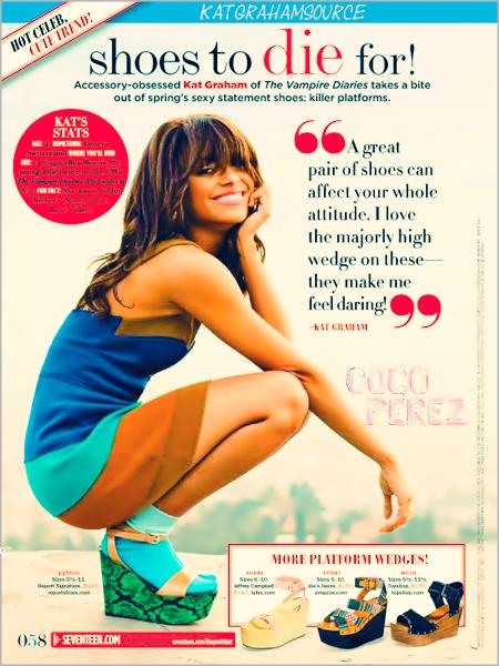 .      Une grande paire de chaussures peut affecter votre attitude entière. J'aime leur hauteur - Elles me font me sentir audacieuse! - Katerina Graham  .