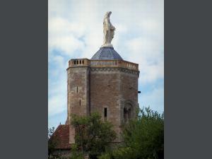 la tour des Ursulines(avec la vierge a son sommet) -AUTUN