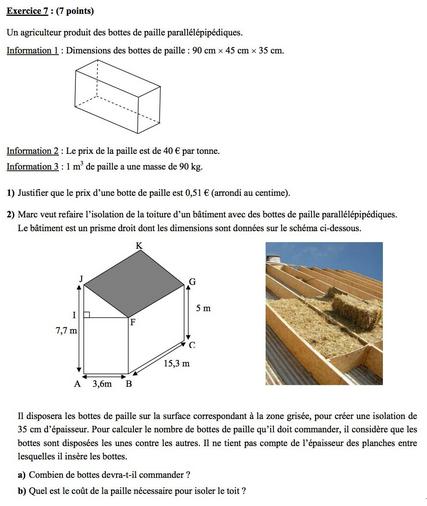 Brevet de Math: Le 7éme exercice impossible!