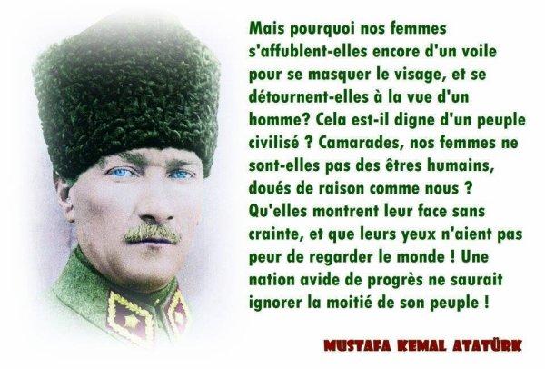 Mes respects Monsieur Mustafa Kemal Atatürk  !