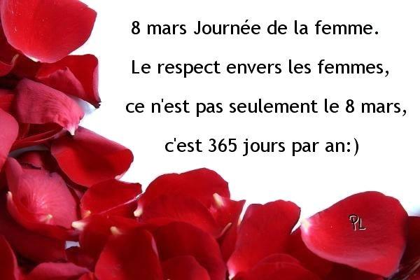 Aujourd'hui ....journée mondiale de la femme.....