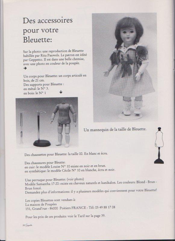 BLEUETTE  GEPPETTO  DE BERNARD TERRIE