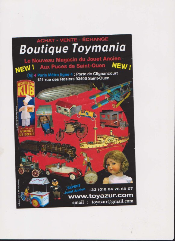BOUTIQUE TOYMANIA  PORTE DE CLIGNANCOURT