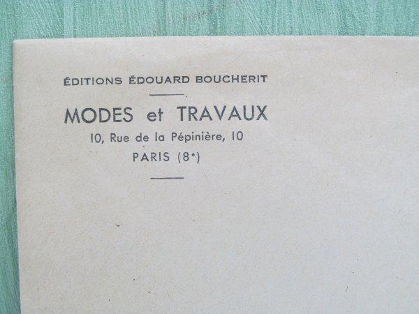 PREMIERS  PATRONS MODES ET TRAVAUX DE 1951