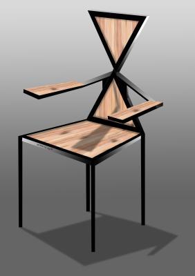 mobilier / fer + bois / conception numerique - abdoulaye armin ... - Chaise Fer Et Bois