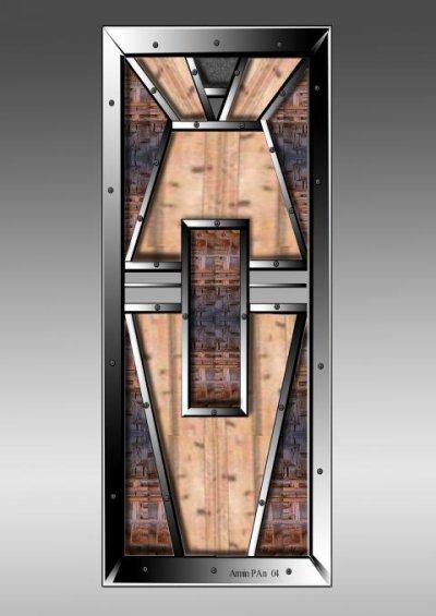 Le mobilier dans la décoration intérieure et extérieure : Mélange du fer et du bois / CONCEPTION  NUMERIQUE