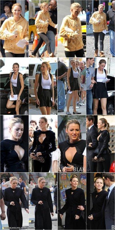 31.08 - Blake a été aperçue alors qu'elle se trouvait à proximité du Standard Hotel , où se tourne des scènes de Gossip Girl actuellement