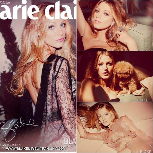 03.09 - Aujourd'hui est sorti le photoshoot du magazine Marie Claire UK dont Blake fait la couverture (mois de Septembre)